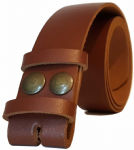 35mm Brown Snap Fit Leather Belt